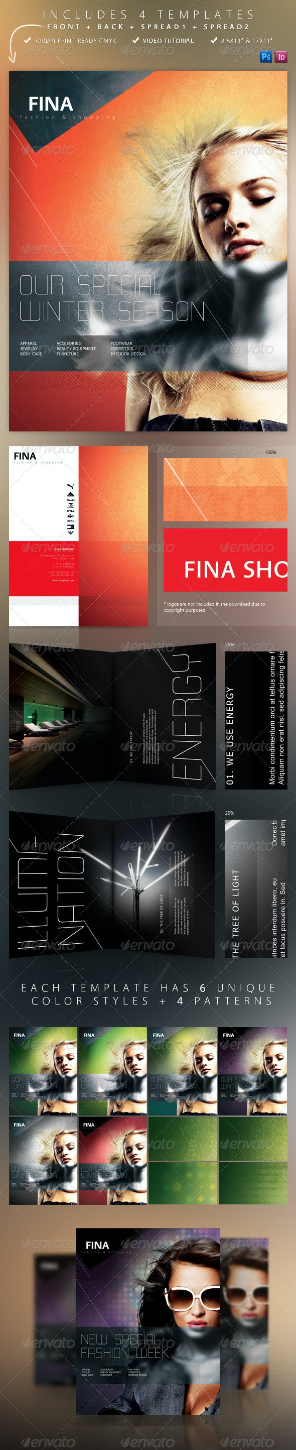 Fina Brochure - Fashion&Shopping 4 Templates - Corporate Brochures