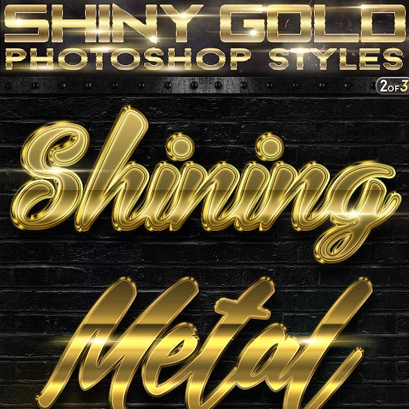 Shiny Gold Photoshop Styles 2of3