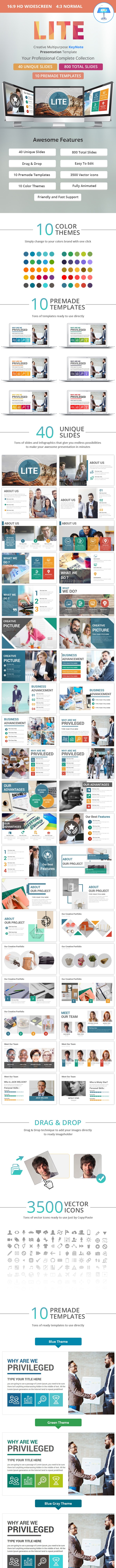 Lite Keynote Presentation Template - Business Keynote Templates