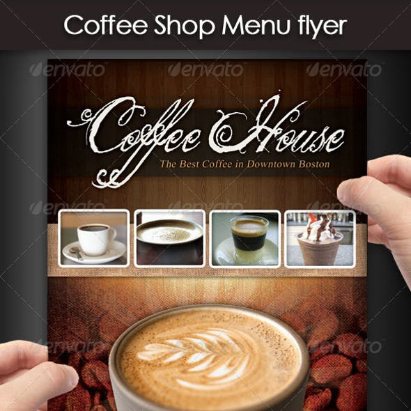 Coffee Shop Menu Flyer