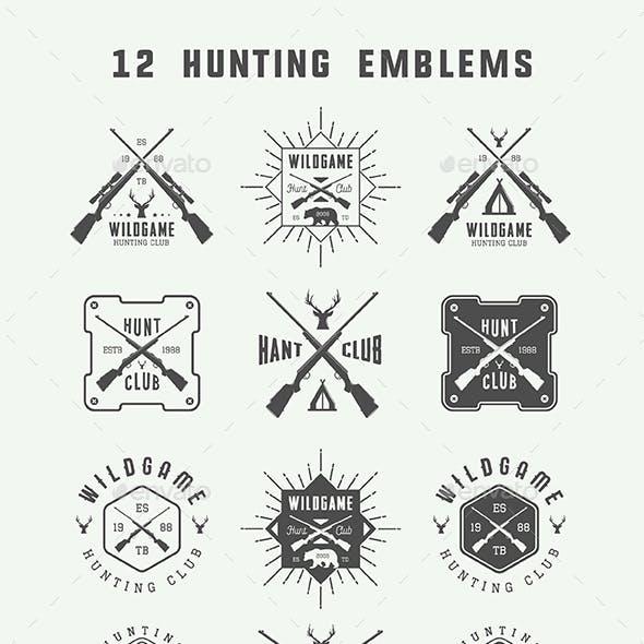 12 Hunting Emblems