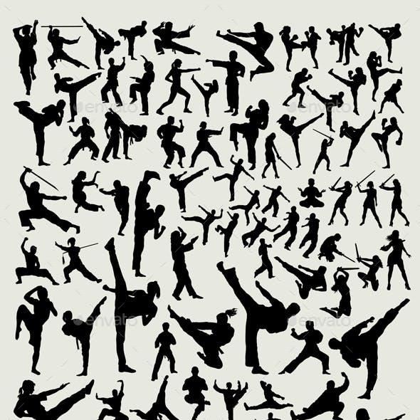 100+ Martial Arts Silhouette