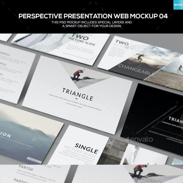 Perspective Presentation Web Mockup 04