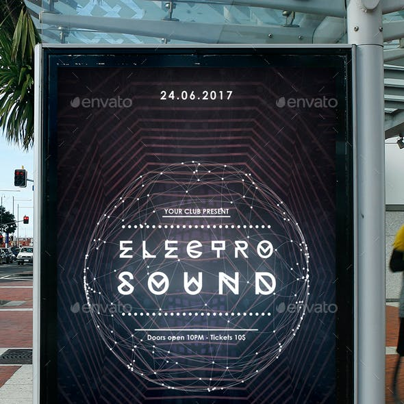 Electro Sound Modern Club Flyer Template