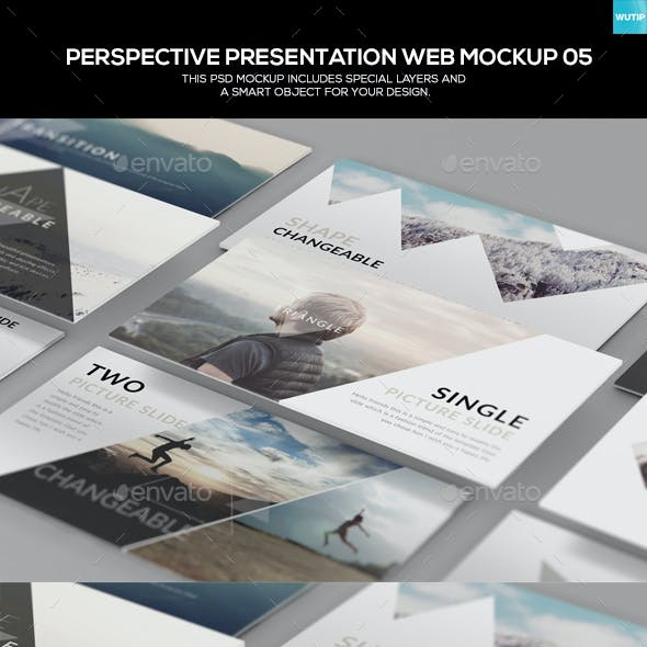 Perspective Presentation Web Mockup 05