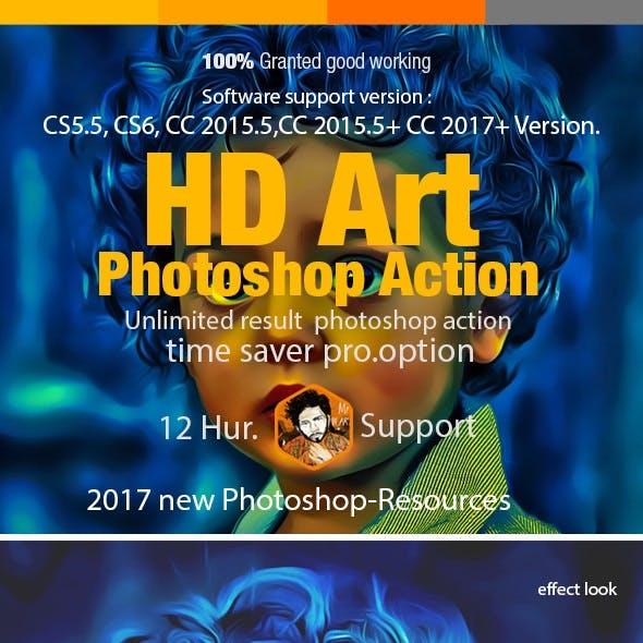 Digital HD Art Photoshop Action