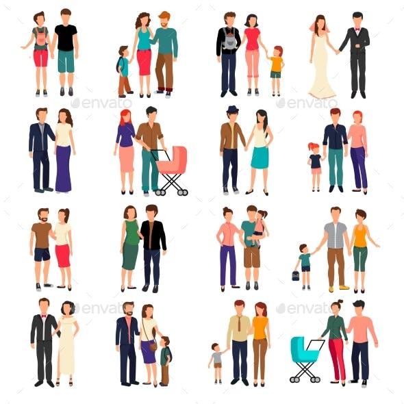 Flat Family Set