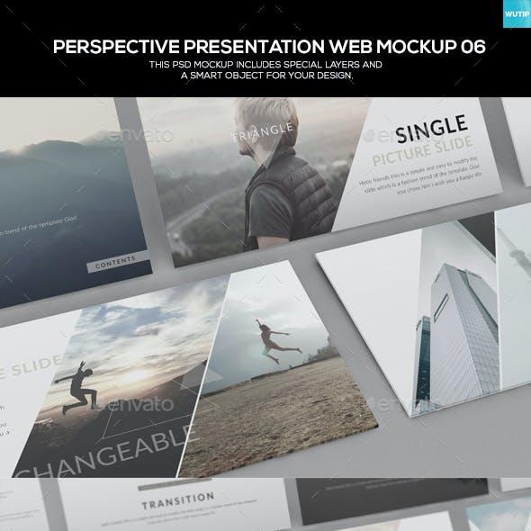 Perspective Presentation Web Mockup 06