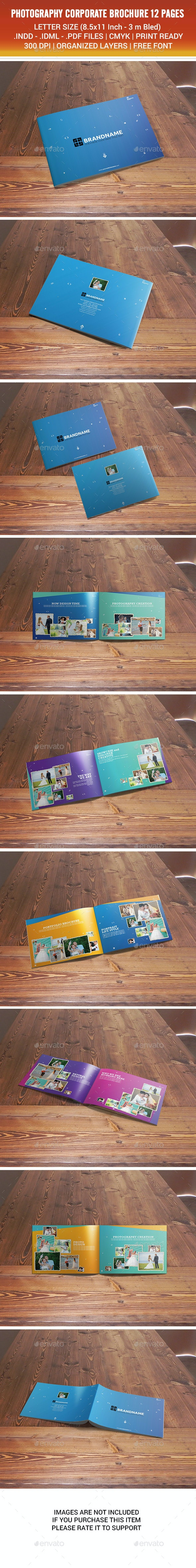 Photography Corporate Brochure 12 Pages v01 - Brochures Print Templates