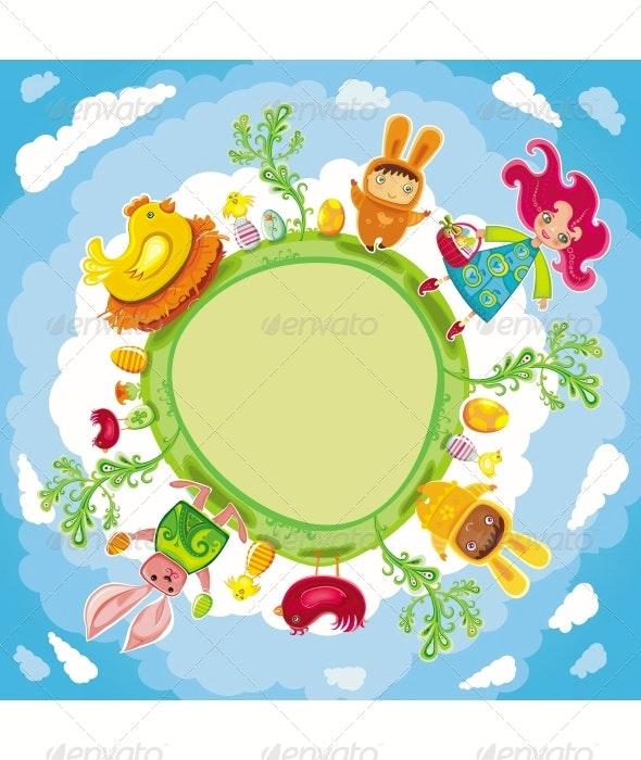 Easter planet - Seasons/Holidays Conceptual
