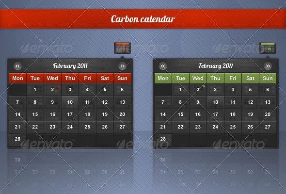 Carbon Date Picker - Miscellaneous Web Elements