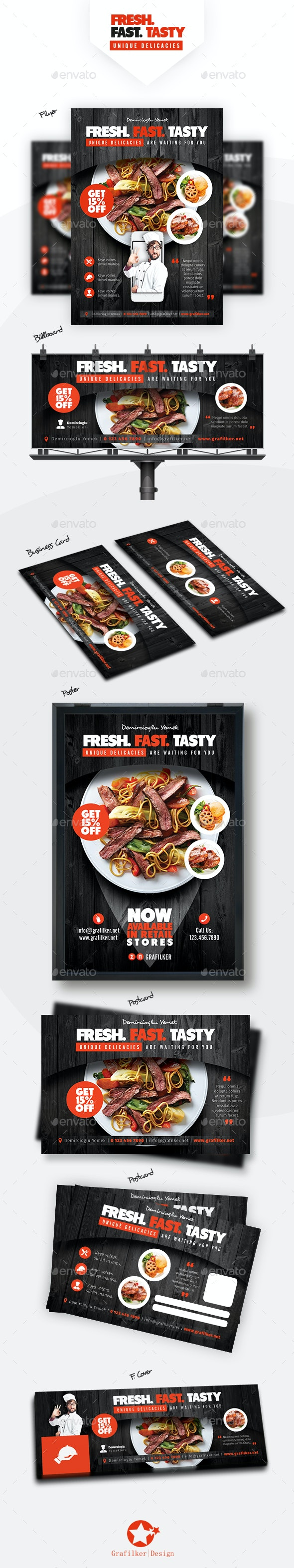 Restaurant Bundle Templates - Restaurant Flyers