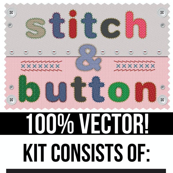 Stitches and Buttons Kit