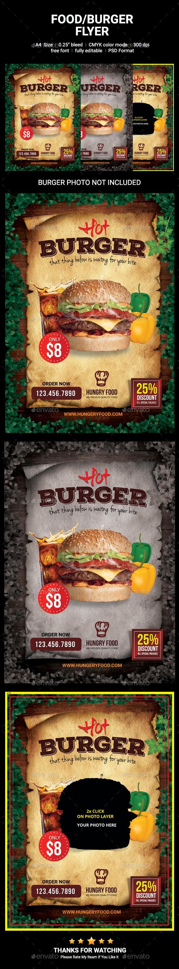 Food/Burger Flyer - Restaurant Flyers