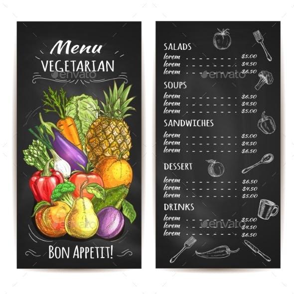 Vegetarian Menu of Vegetables