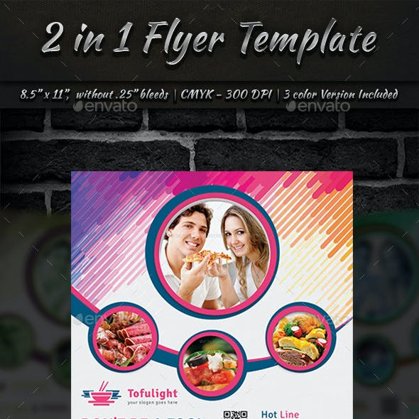 2 in 1 Flyer Template