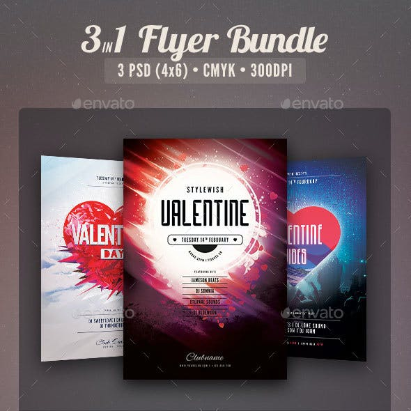 Valentine Flyer Bundle Vol.04