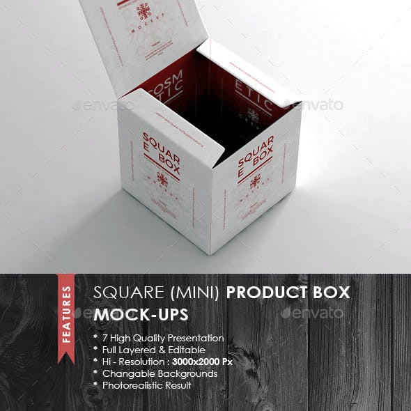 Square Box Mock-up