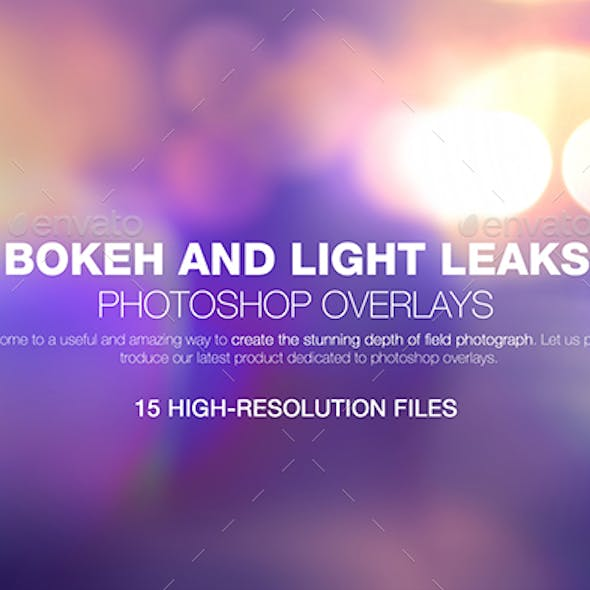 Bokeh & Light Leaks Backgrounds 02