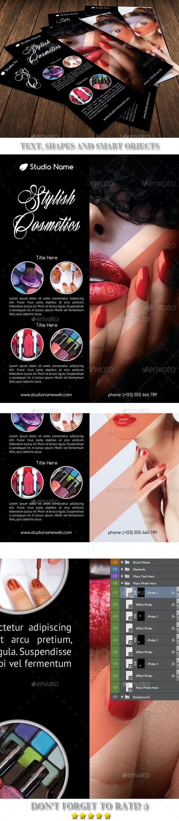 Stylish Cosmetics Flyer Template 53 - Commerce Flyers