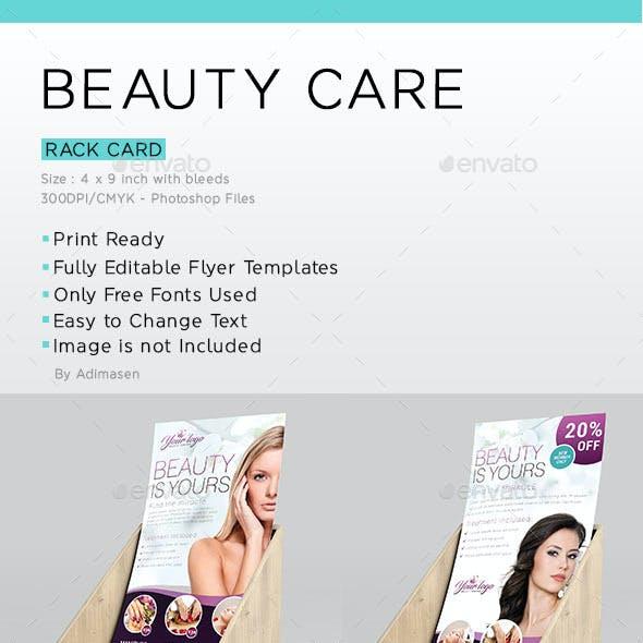 Beauty Care Rack Card Template.