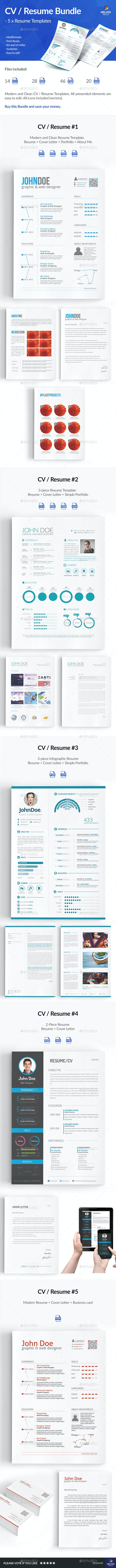 5 x Resume / CV - Resumes Stationery