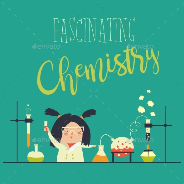Girl Working in the Chemistry Laboratory - Health/Medicine Conceptual
