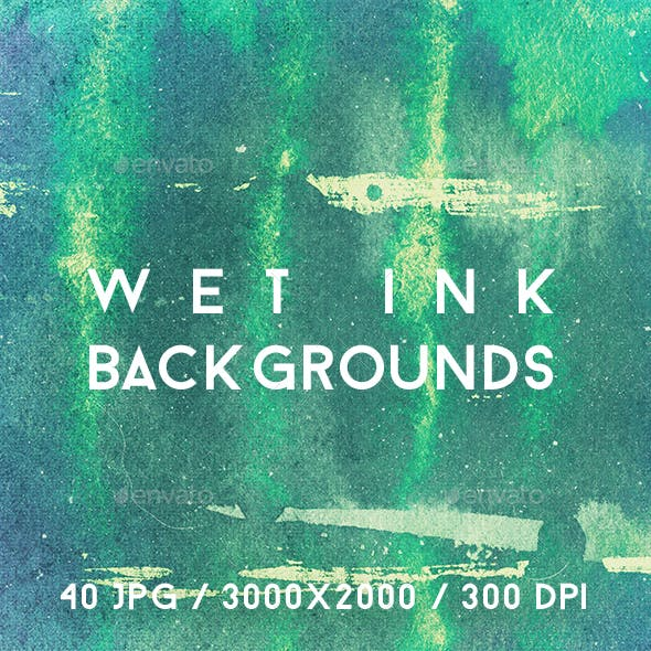 40 Wet Ink Backgrounds