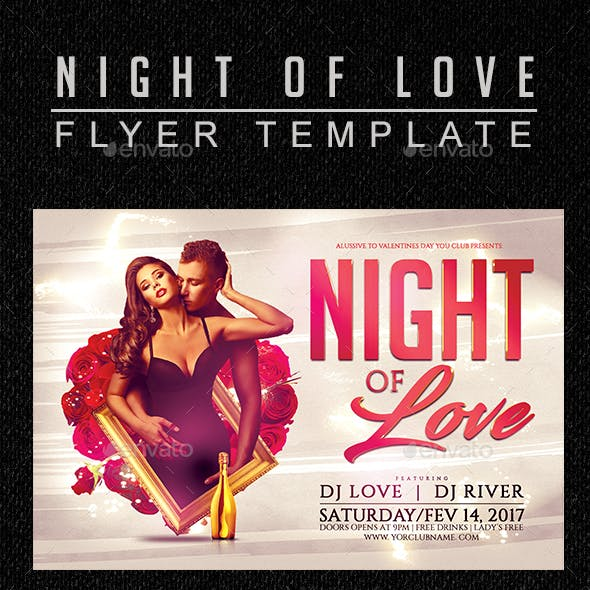 Night Of Love Flyer Template