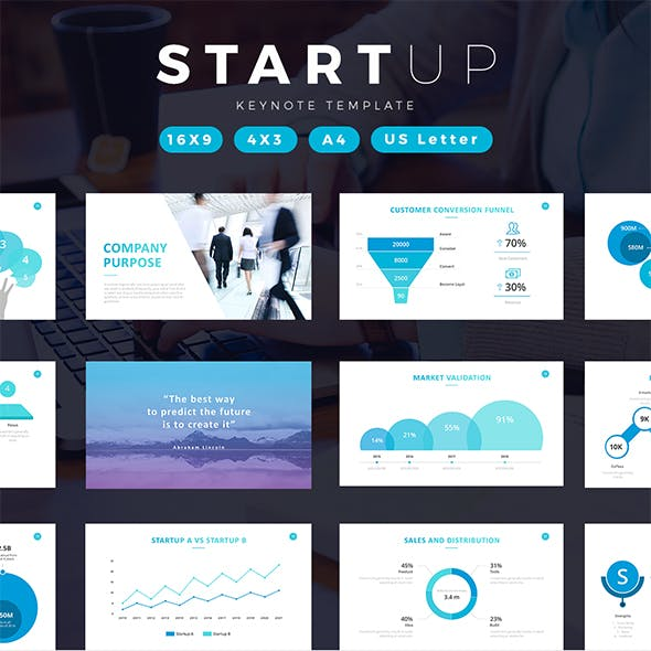 Startup Company Pitch Deck Keynote Template