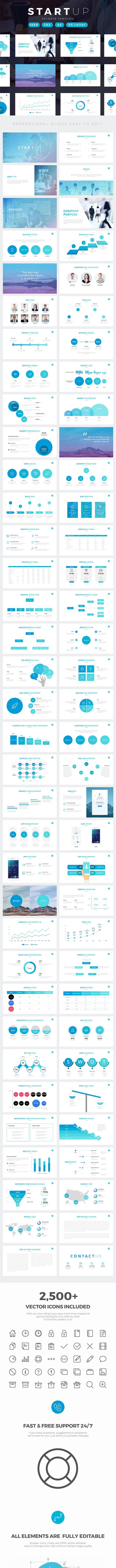 Startup Company Pitch Deck Keynote Template - Business Keynote Templates