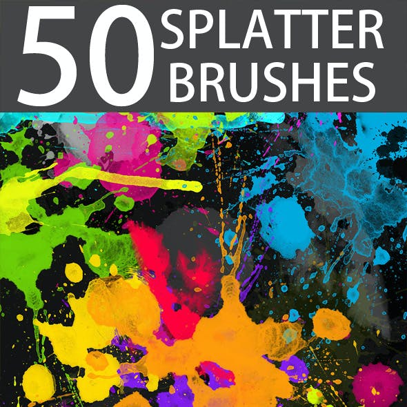 50 HQ Professional Splatter Brushes
