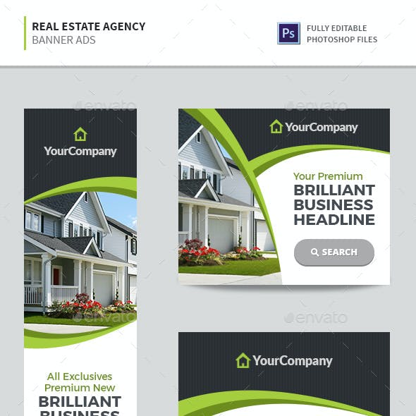 Real Estate Agency Banners