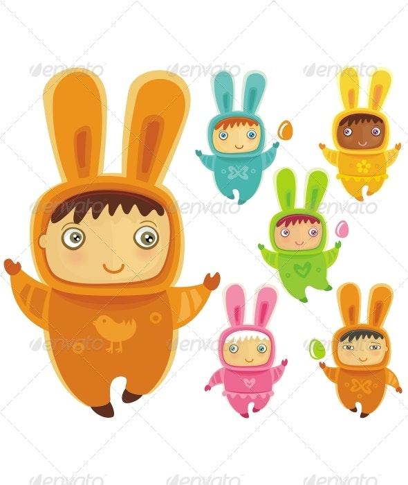 Little bunny - babies - Seasons/Holidays Conceptual