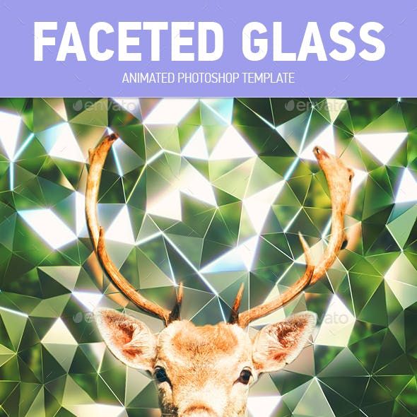 Faceted Glass Animated Photoshop Template