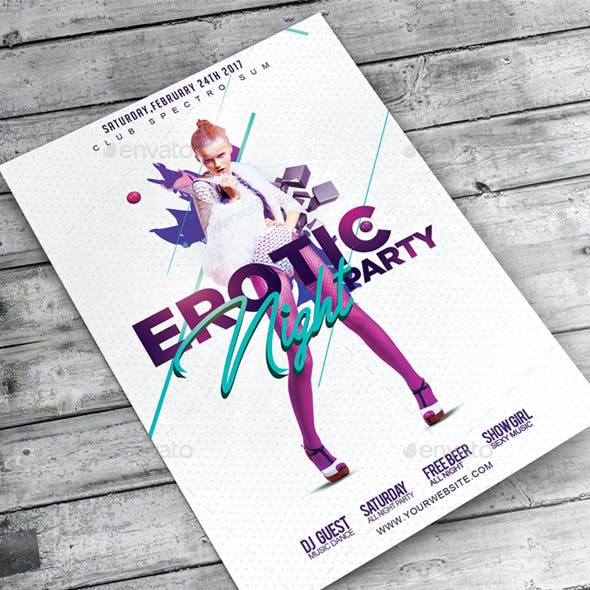 Flyer Erotic Night Party