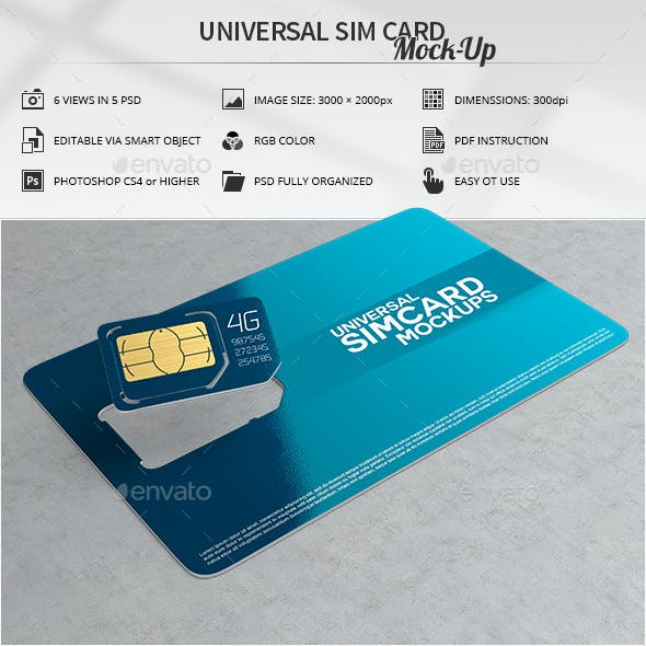 Universal Sim Card Mock-Up