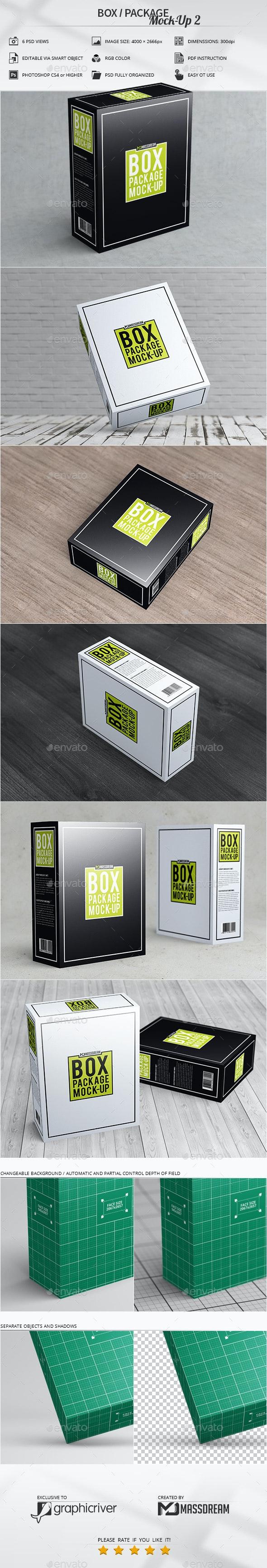 Box / Package Mock-Up 2 - Print Product Mock-Ups