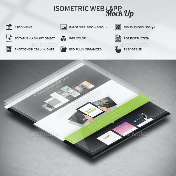 Isometric Web / App Mock-Up