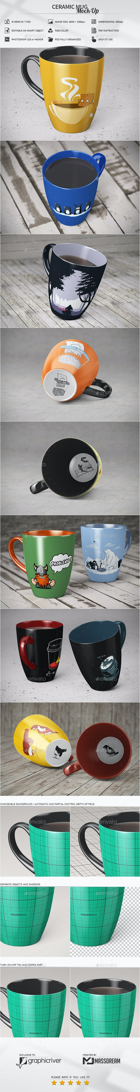 Ceramic Mug Mock-Up - Print Product Mock-Ups