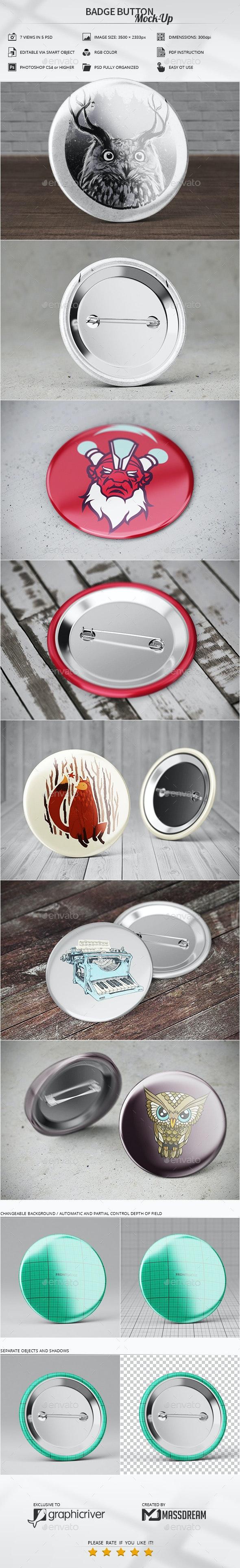 Badge Button Mock-Up - Print Product Mock-Ups