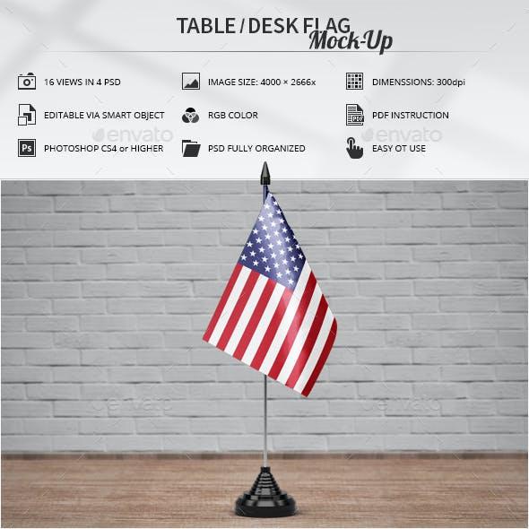 Table / Desk Flag Mock-Up