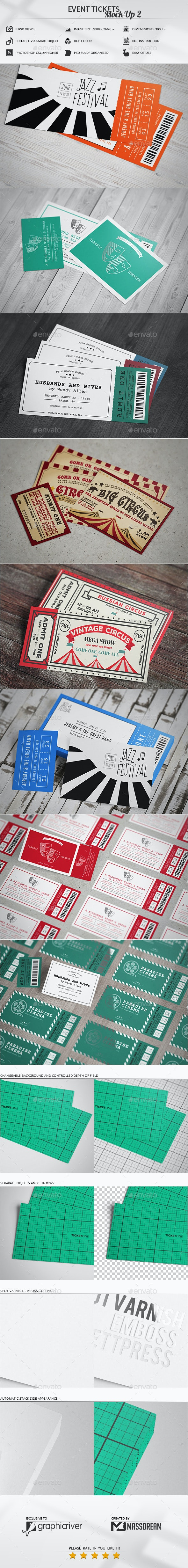 Event Tickets Mock-Up 2 - Miscellaneous Print