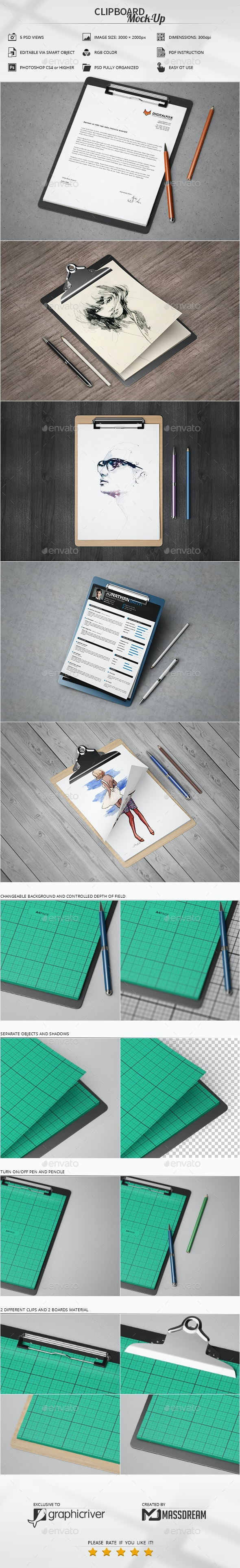 Clipboard Mock-Up - Miscellaneous Print
