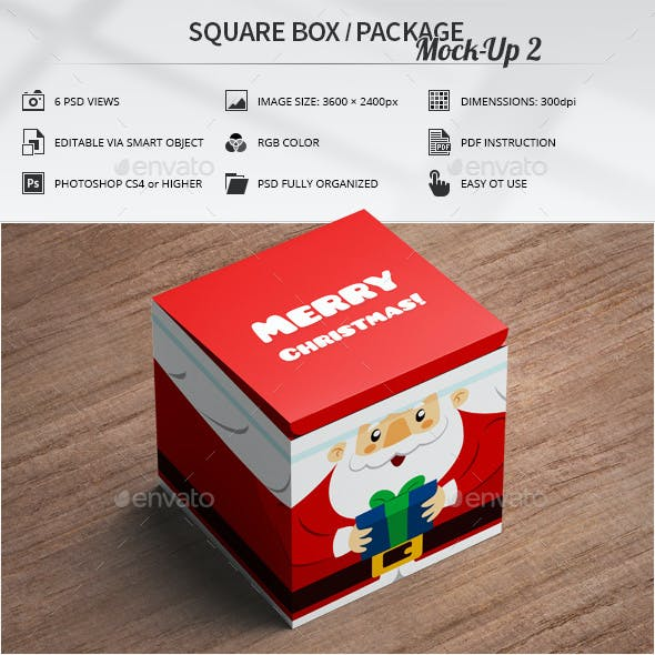 Square Box / Package Mock-Up 2