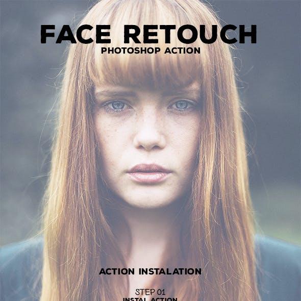 Face Retouch - Photoshop Action #68