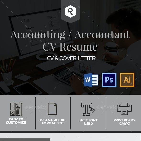Accounting / Accountant CV Resume Template