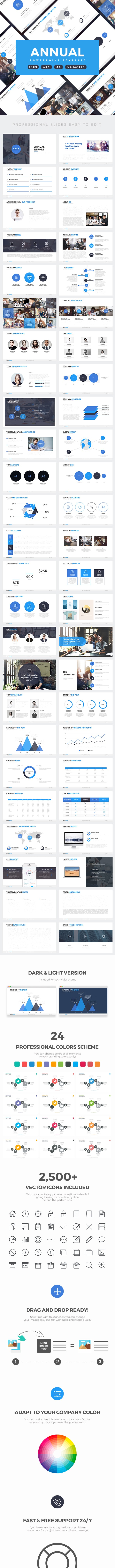 Annual Report Professional Powerpoint Template - Business PowerPoint Templates