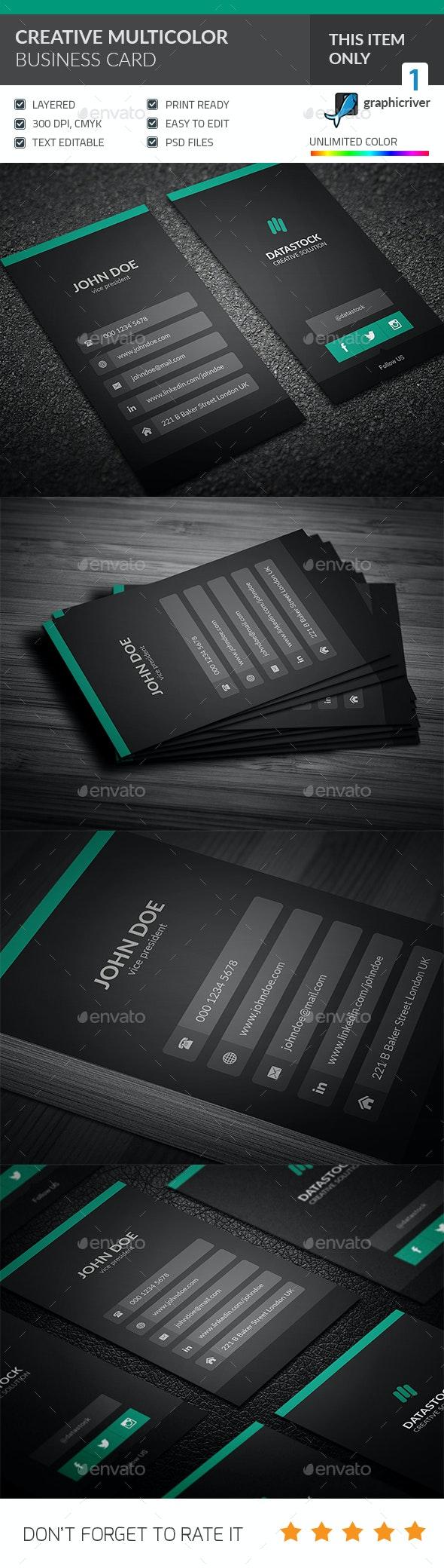 Modern UI Business Card - Corporate Business Cards