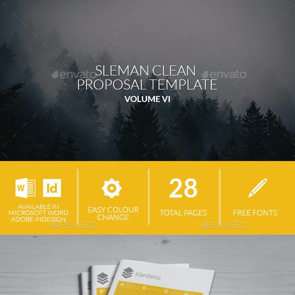 Sleman Clean Proposal Template Volume 6